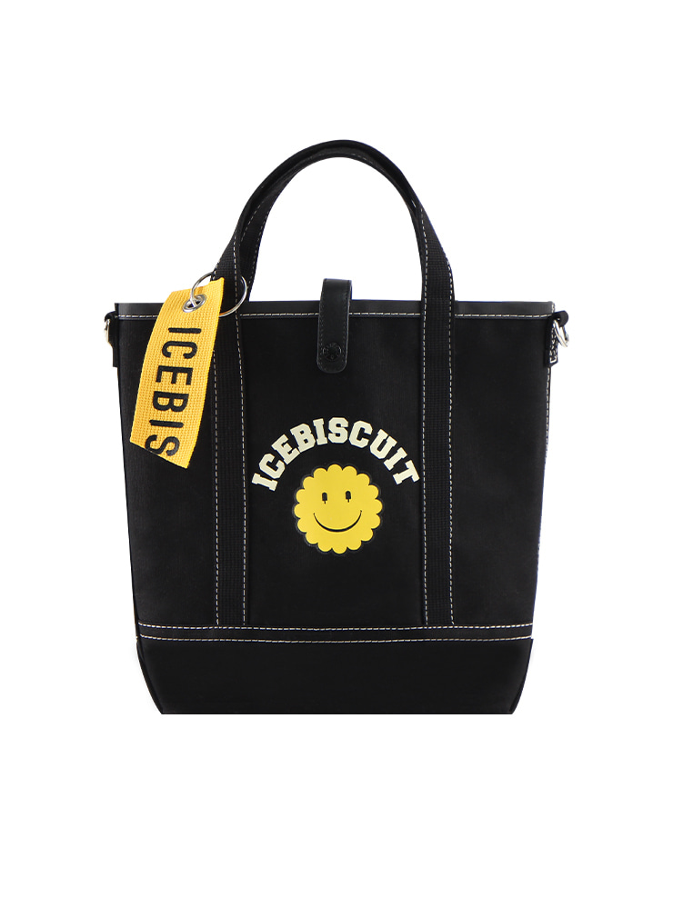 아이스비스킷 - Icebiscuit smile oxford black shoulder bag