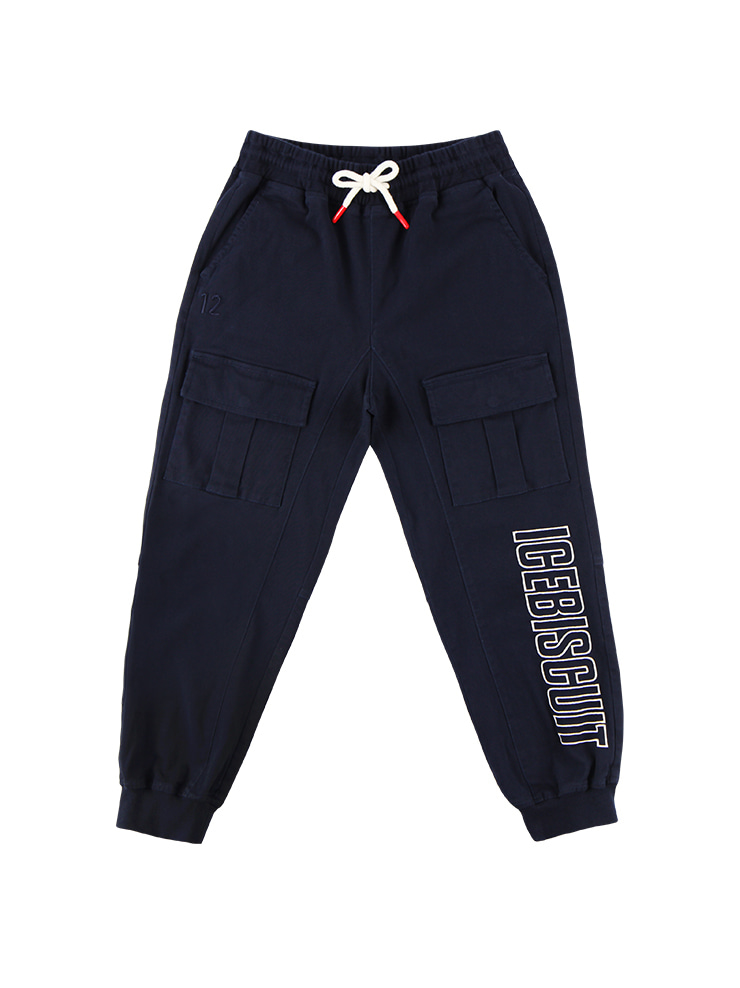 아이스비스킷 - Icebiscuit letter point jogger pants 20% sale