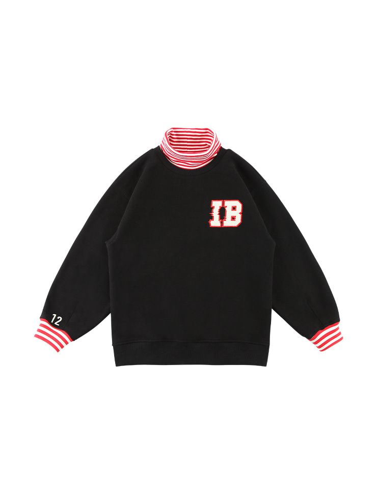 아이스비스킷 - IB stripe point turtleneck sweatshirt 20% sale (기모O)