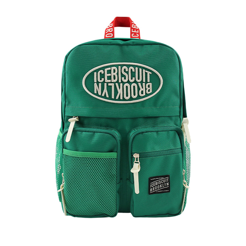 아이스비스킷 - Icebiscuit symbol logo double pocket backpack