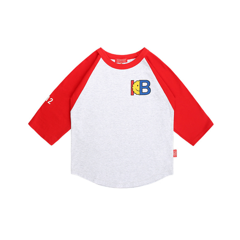 아이스비스킷 - IB print color block three quarter raglan tee 20% sale