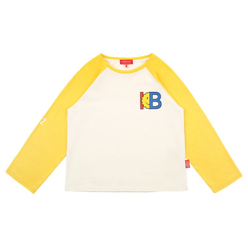 아이스비스킷 - IB-print color block raglan tee 20% sale
