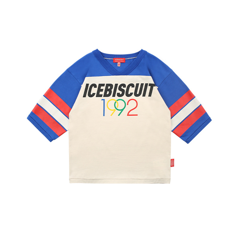 아이스비스킷 - 1992 Icebiscuit v-neck three quarter sleeve tee 20% sale