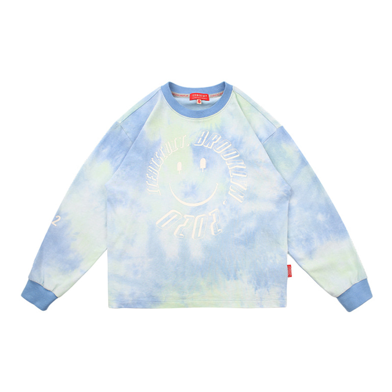 아이스비스킷 - Icebiscuit tie-dye long sleeve tee