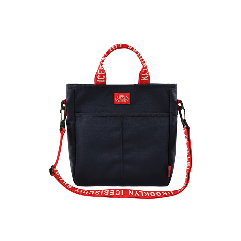 아이스비스킷 - Logo tape color block second bag