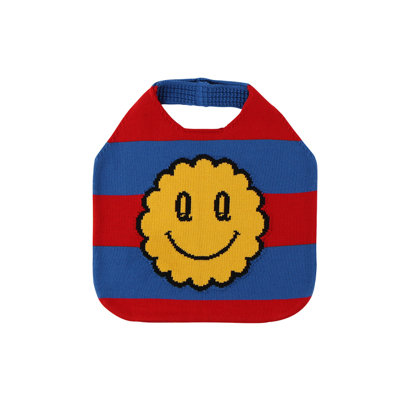아이스비스킷 - Quiz smile stripe sweater bag