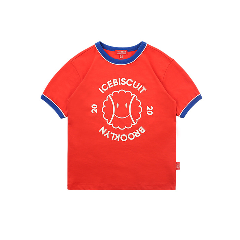 아이스비스킷 - Smile tennis piping point ringer tee 30% sale