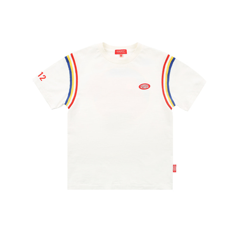 아이스비스킷 - Icebiscuit tennis court-print short sleeve tee