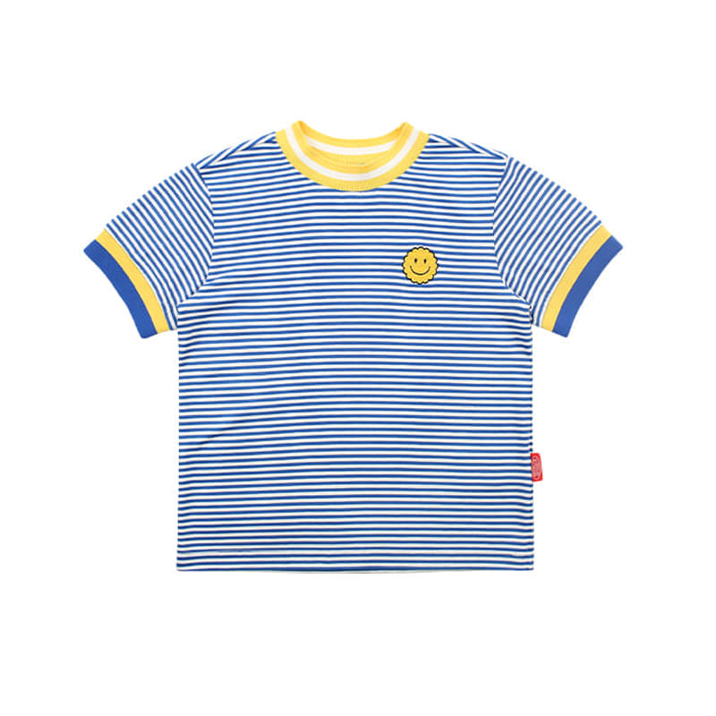 아이스비스킷 - Smile rib point stripe tee