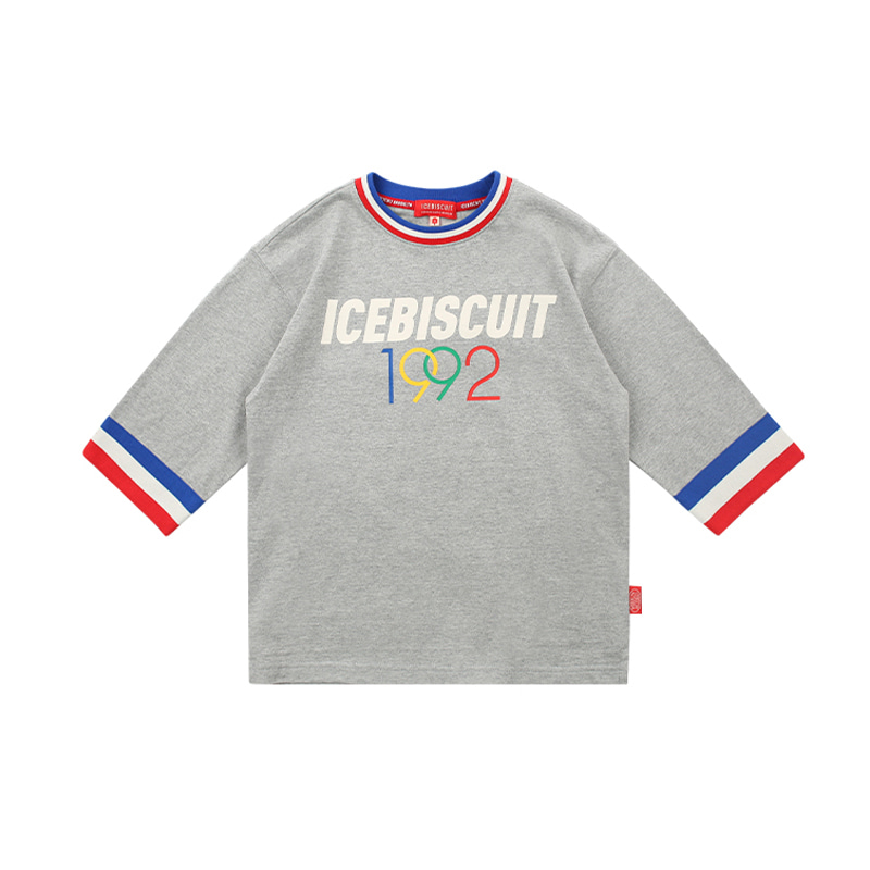 아이스비스킷 - 1992 Icebiscuit rib point three quarter tee