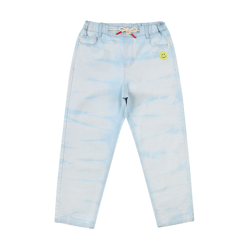 아이스비스킷 - Icebiscuit tie-dye light denim pants