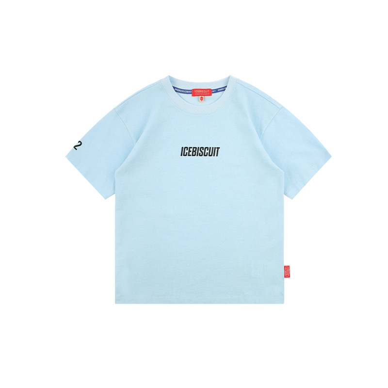 아이스비스킷 - Icebiscuit logo graphic pigment dyed t-shirt