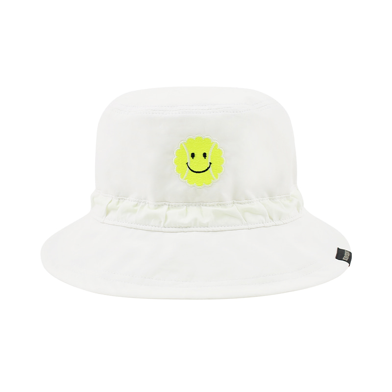 아이스비스킷 - Tennis smile cotton bucket hat