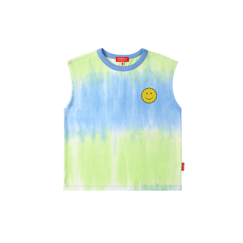아이스비스킷 - Smile tie-dye sleeveless top