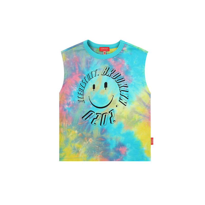 아이스비스킷 - Icebiscuit smile tie-dye sleeveless top