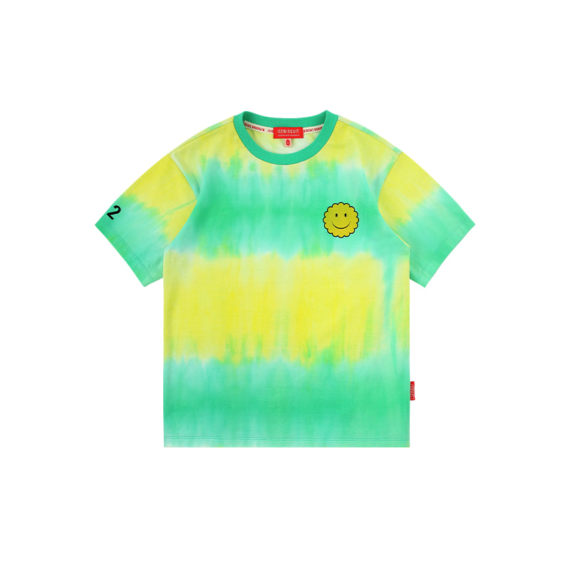아이스비스킷 - Smile tie-dye short sleeve t-shirt