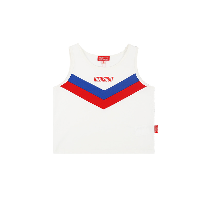 아이스비스킷 - Icebiscuit color block cropped tank top 30% sale