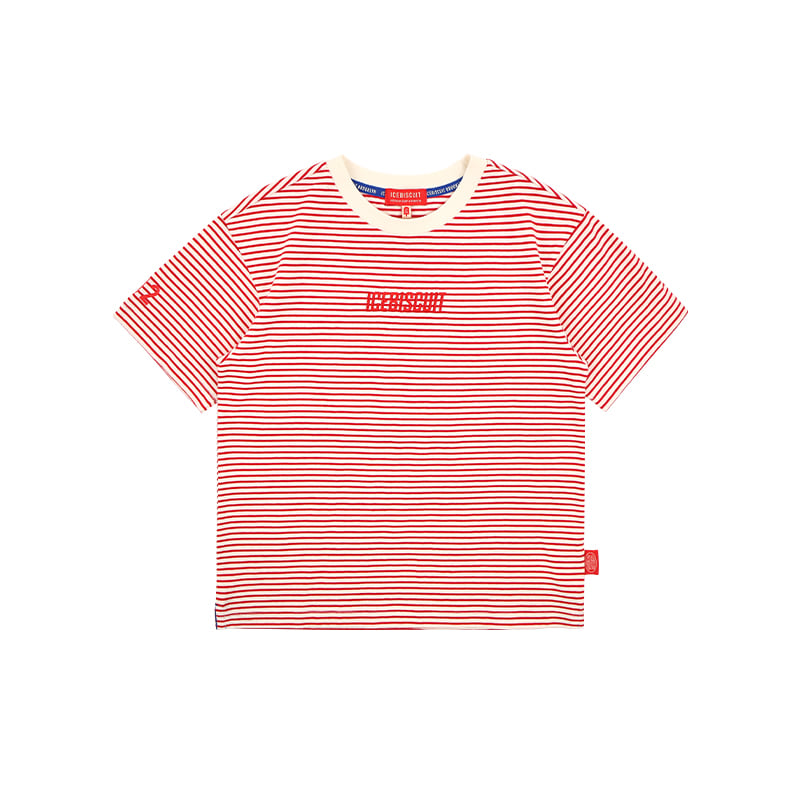 아이스비스킷 - Icebiscuit logo graphic stripe t-shirt 20% sale