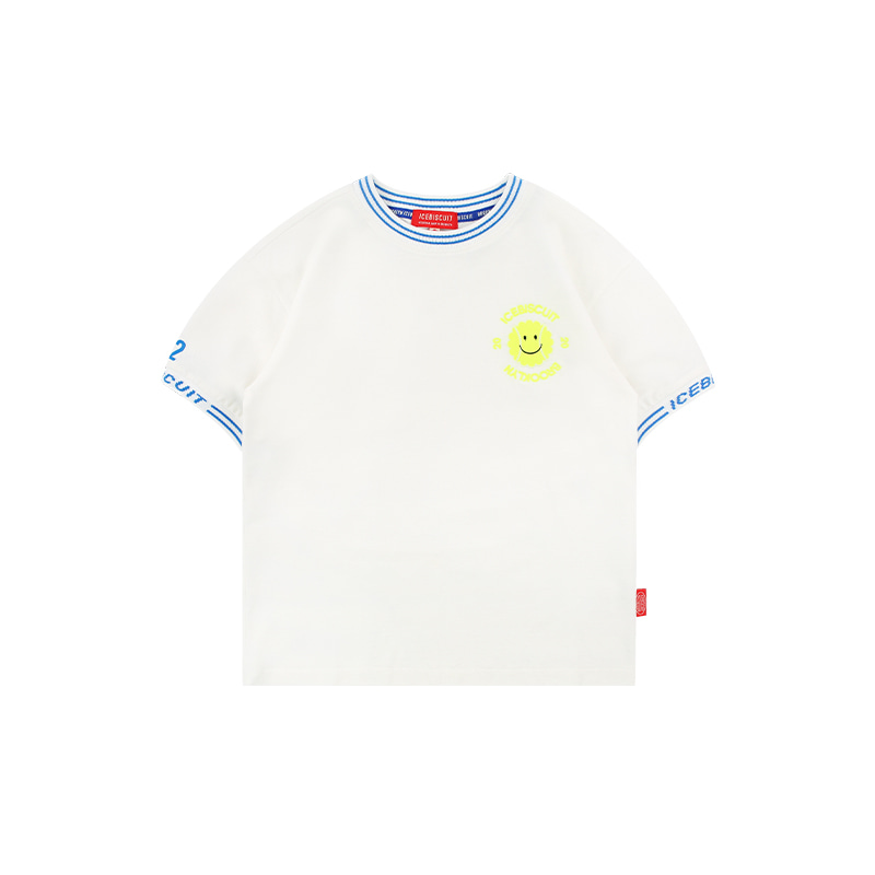 아이스비스킷 - Icebiscuit logo rib point short sleeve t-shirt 20% sale